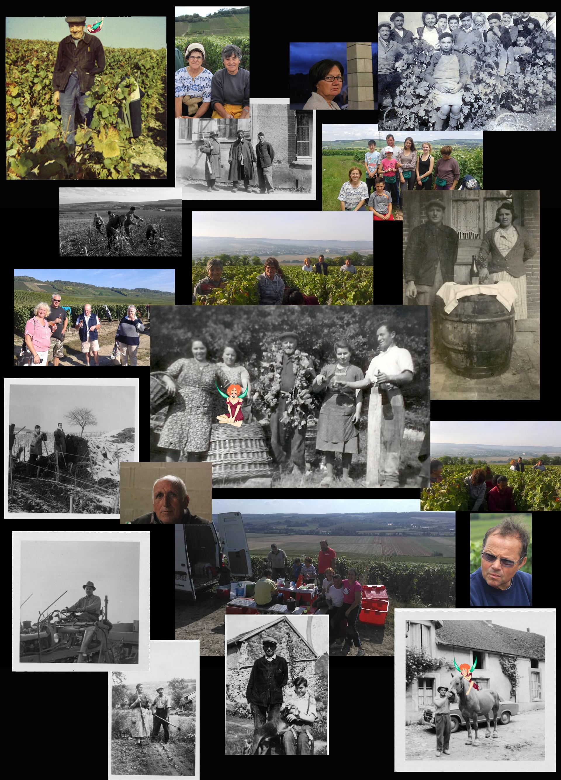 patchwork de photos souvenirs